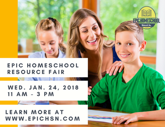EPIC Homeschool Resource Fair Postcard