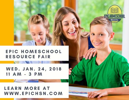 EPIC Homeschool Resource Fair Postcard