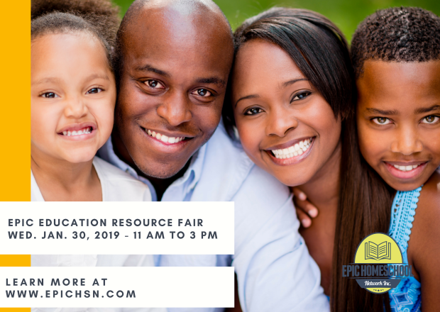 2019 EPIC Homeschool Resource Fair Postcard (1)