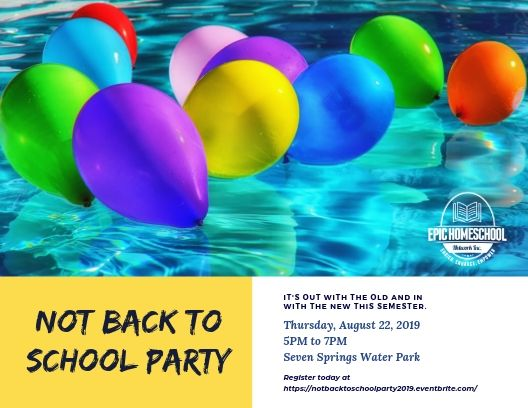Postcard 2019 Not back to school party